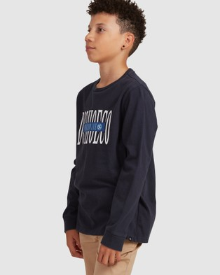DC Shoes - Youth Dimensions Long Sleeve T Shirt - T-Shirts & Singlets (Navy Blazer) Youth Dimensions Long Sleeve T Shirt