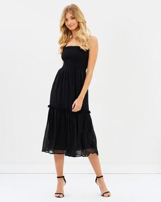 Atmos & Here – Daphne Midi Dress Black