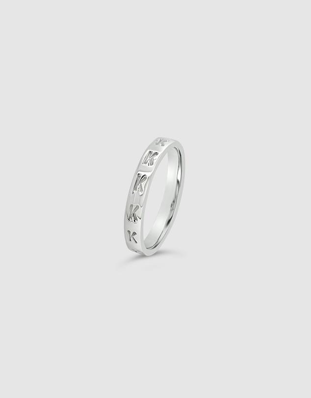 Women Personalised Letter K Ring