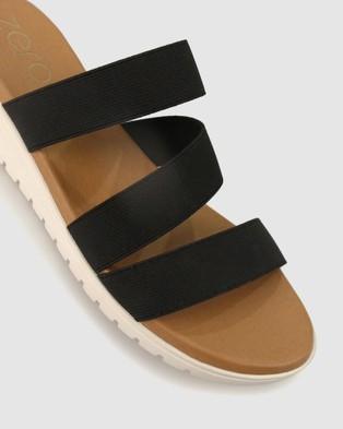Zeroe Kelly Comfort Wedge Sandals - Wedges (Black)