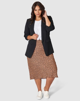 Something 4 Olivia Emily Animal Printed Skirt - Pencil skirts (Neutrals)