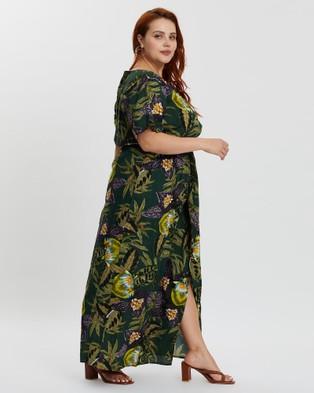 Hope & Harvest Mahla Twist Front Maxi - Printed Dresses (Lotus)