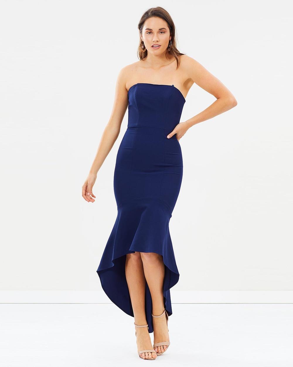 Lumier Ren Strapless Trumpet Maxi Dress Dresses Navy Ren Strapless Trumpet Maxi Dress