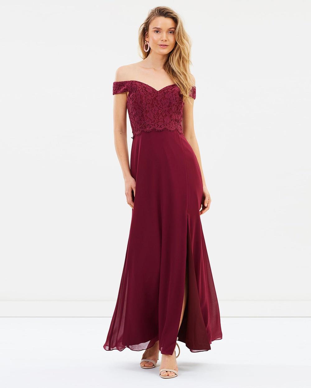 Alabaster The Label Merlot Red Solace Dress