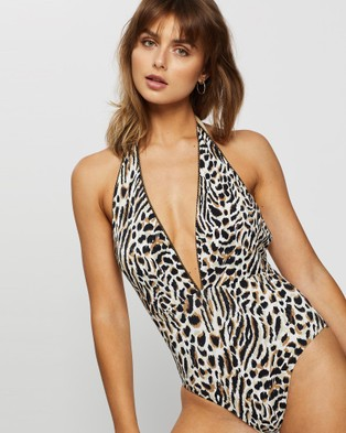JETS Prowess Plunge One Piece - One-Piece / Swimsuit (NAT)