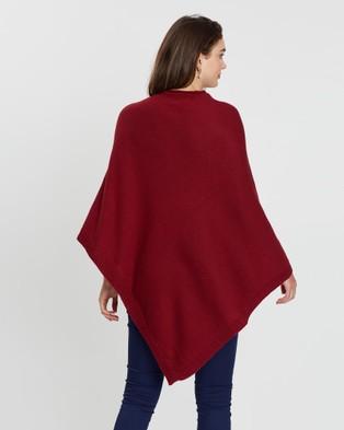 KAJA Clothing Bridget Poncho - Jumpers & Cardigans (Dark Red)