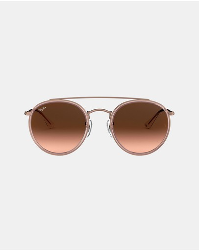 Ray-ban Icons Rb3647n Bronze Copper & Pink Gradient
