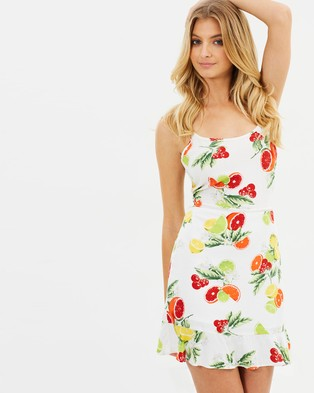 Atmos & Here – Adele Mini Dress – Printed Dresses Fruit Salad