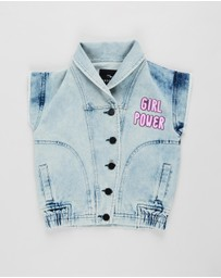 Andorine - Denim Vest - Kids-Teens