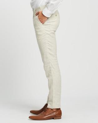 Calvin Klein - Extreme Slim Fit Suit Pants Suits & Blazers (Ecru )