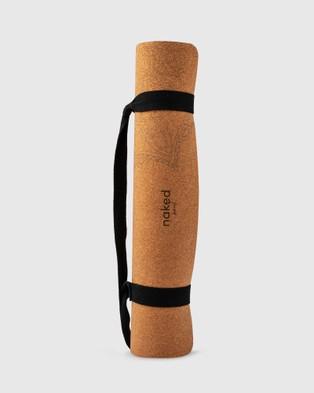 Naked Soul Mandala Cork Yoga Mat - Gym & Yoga (Brown)
