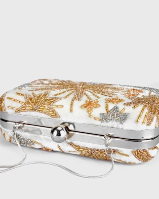 From St Xavier Night Sky Box Clutch - Clutches (Ivory)