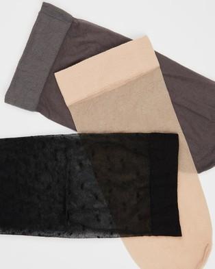 The Legwear Company Mixed 3 Pack Eco Socks Ankle Black 3-Pack