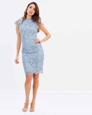 Chi Chi London – Nikki Dress – Dresses (Blue)