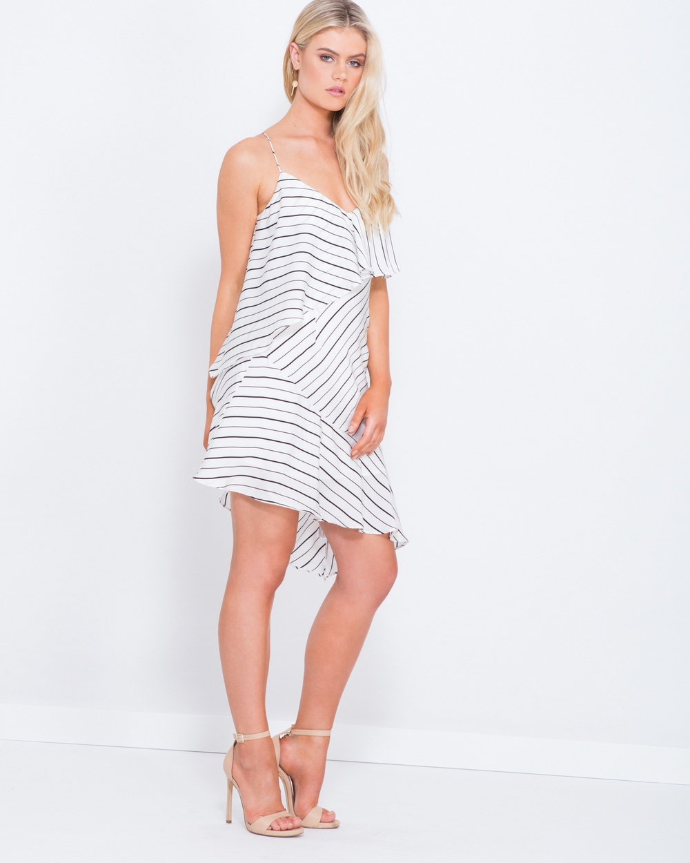 Tussah White Stripe Carleigh Layered Stripe Dress