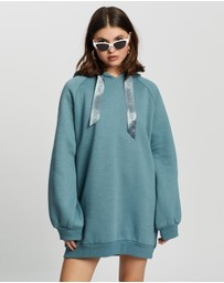 Missguided - Oversized Hoodie Dress