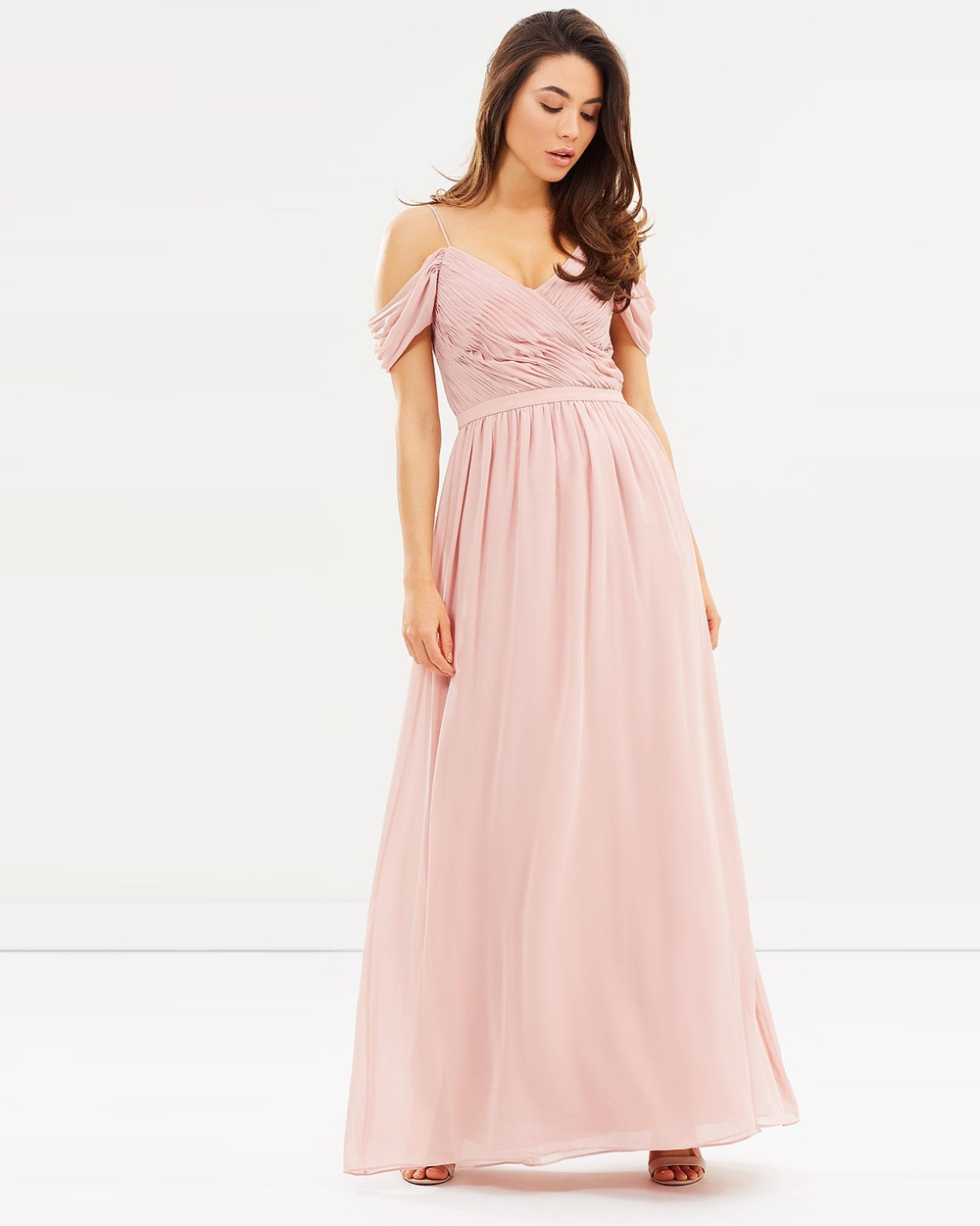 Esther Camellia Dress Bridesmaid Dresses Dark Blush Camellia Dress