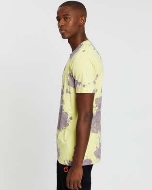 Blood Brother - Melted Printed Bleached T Shirt T-Shirts & Singlets (Lemon Violet) T-Shirt