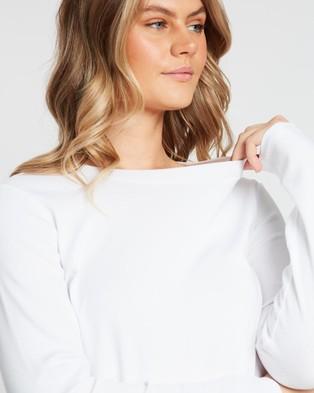 Sportscraft Organic Cotton Long Sleeve Tee - T-Shirts & Singlets (White)