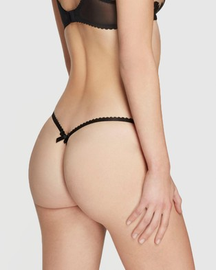 Agent Provocateur Milena Thong - Thongs & G-Strings (Black)