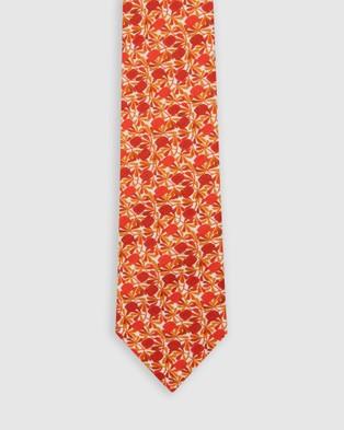 Buckle Jocelyn Proust   Tie & Pocket Square Set - Ties (Red)