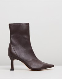 Atmos&Here - Tania Leather Ankle Boots