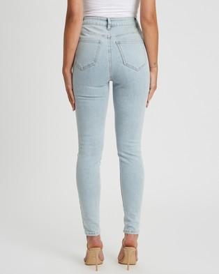 Tussah Jenna Skinny Jeans - High-Waisted (Light Blue Wash)