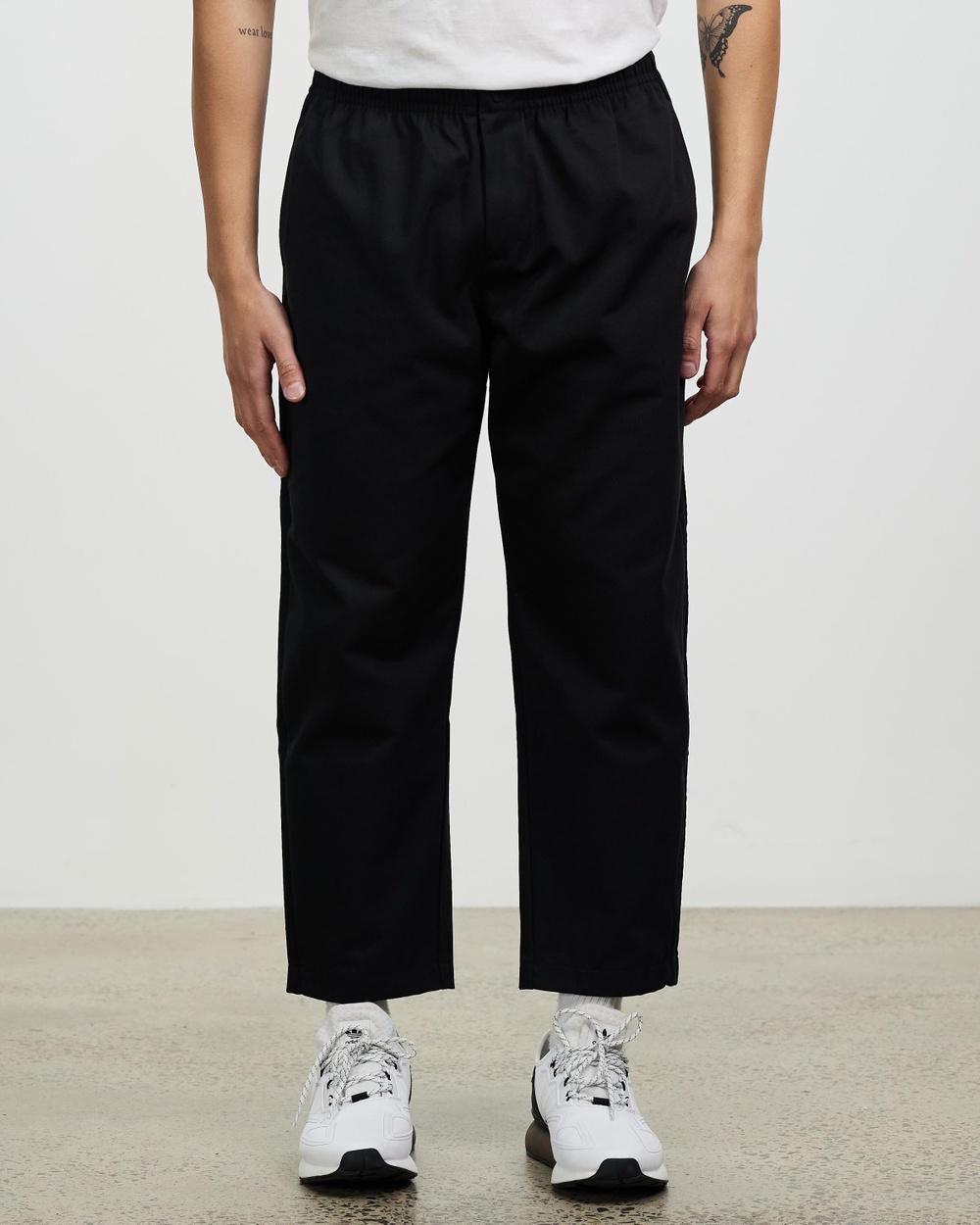adidas Originals Adicolor Trefoil Relaxed Twill Pants Black