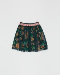 Scotch R'belle - Elasticised Tulle Skirt with All-Over Printed Woven Lining - Teens