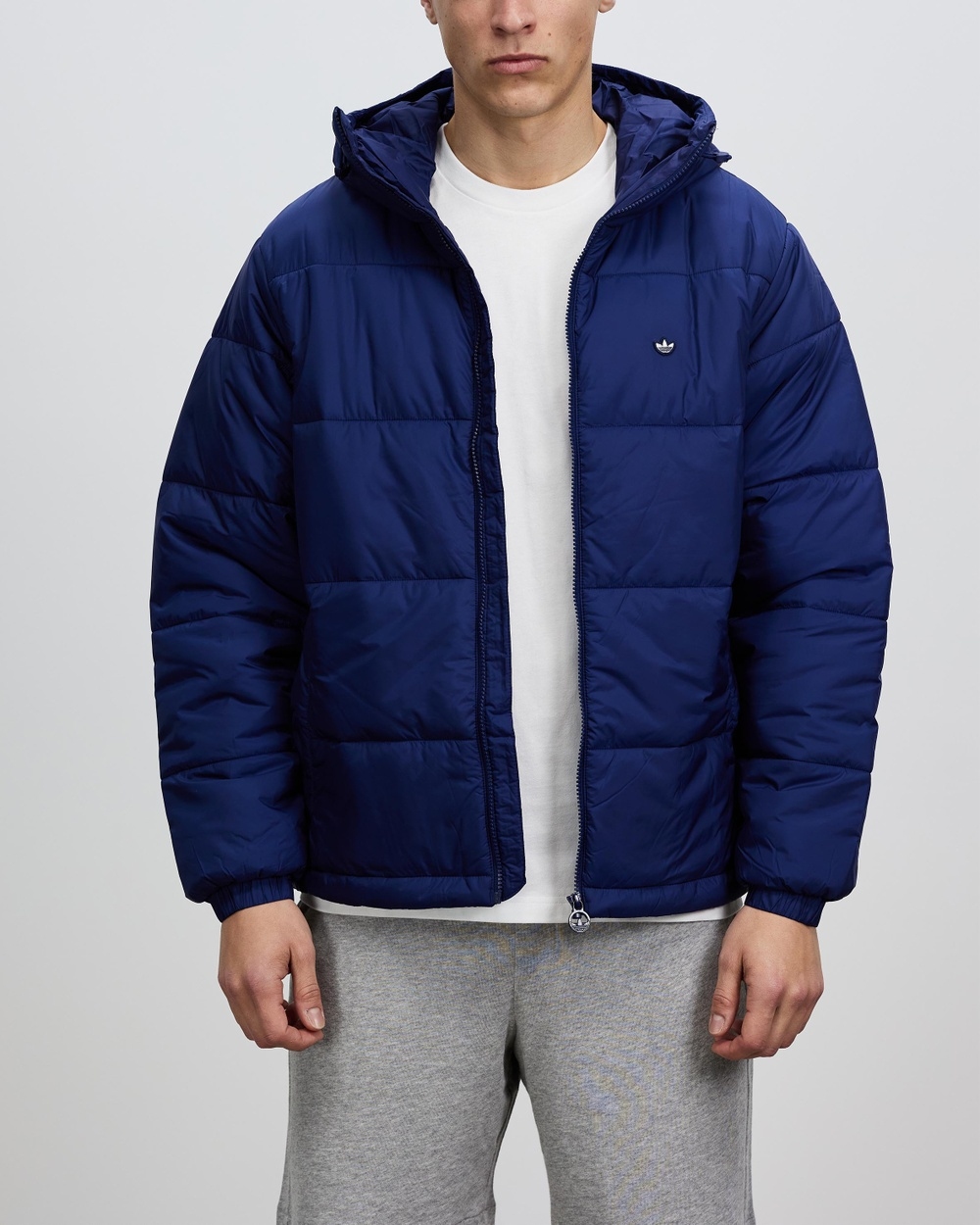 adidas Originals Padded Hooded Puffer Jacket and Coats Night Sky