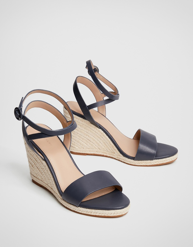 Women Bec Leather Wedge