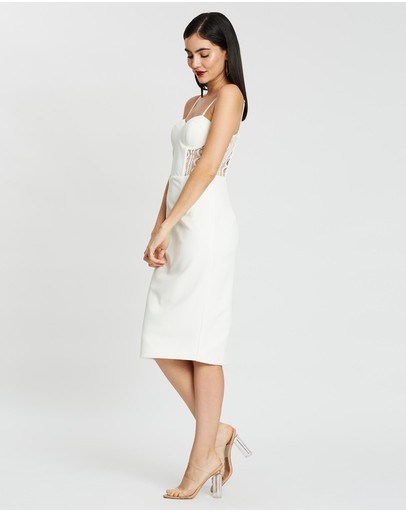 Miss Holly Adrianna Dress White