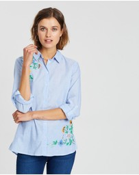 Dorothy Perkins - Chambray Beaded Embellished Shirt