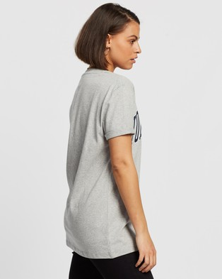 Tommy Jeans Collegiate Logo Tee - T-Shirts & Singlets (Light Grey Heather)