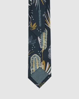 Peggy and Finn - Coastal Flora Tie - Ties (Navy) Coastal Flora Tie