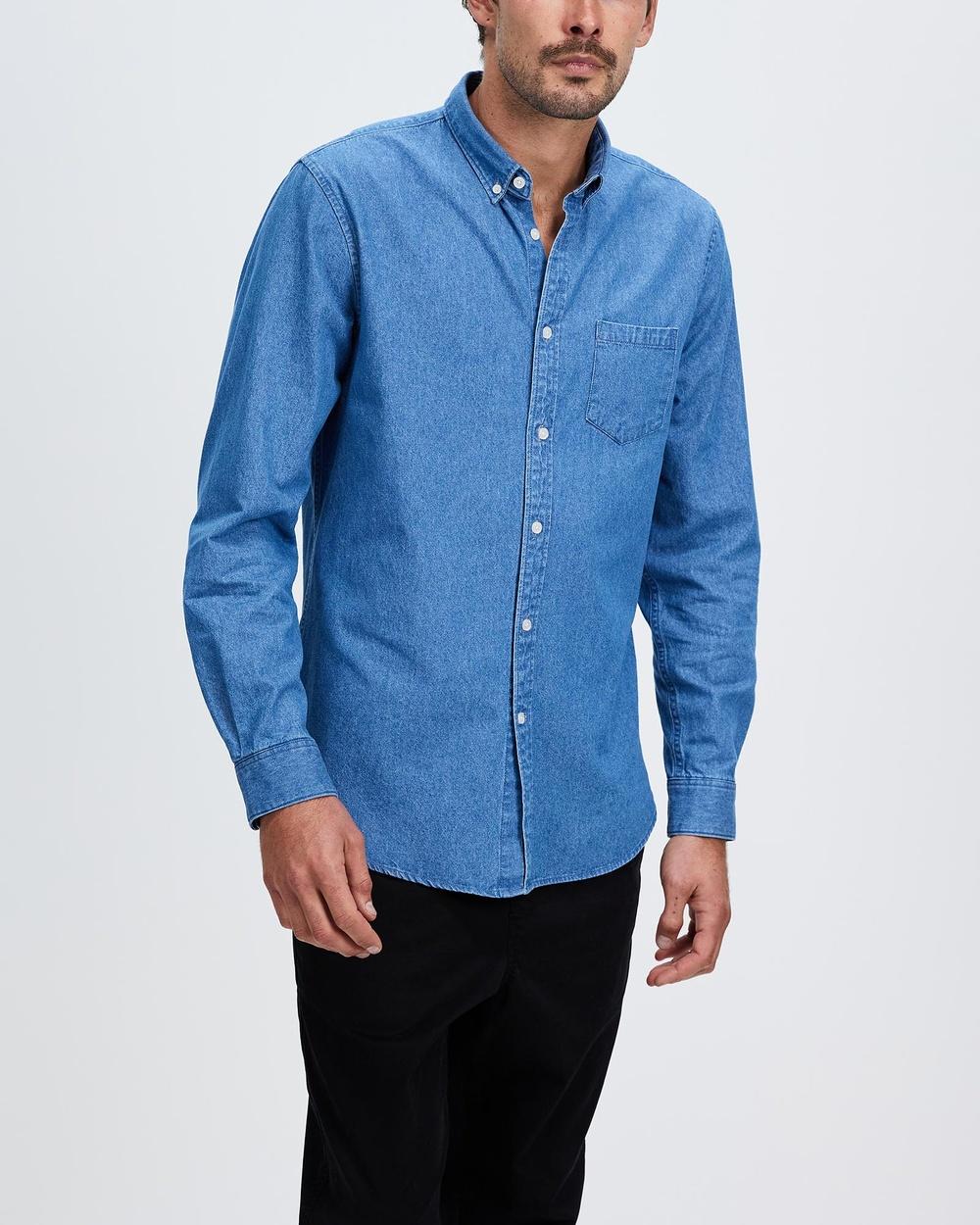 Marcs Duke Reg Shirt Casual shirts MID WASH