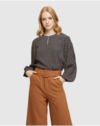 Oxford - Mariette Geo Printed Blouse
