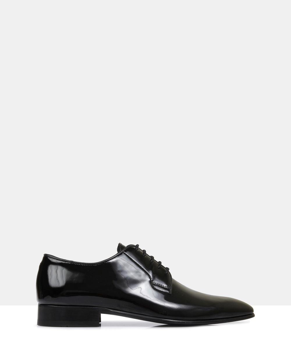 Brando Ellis Lace Up Dress Shoes Patent Black Australia