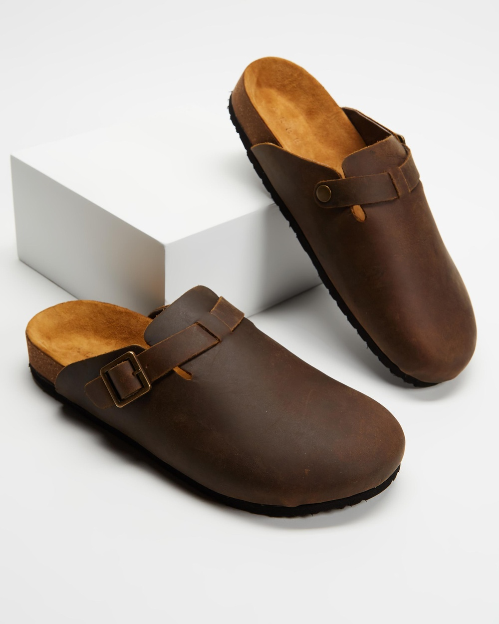 AERE Bronte Sandals Casual Shoes Brown