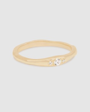 By Charlotte I Am Light Ring Jewellery Gold