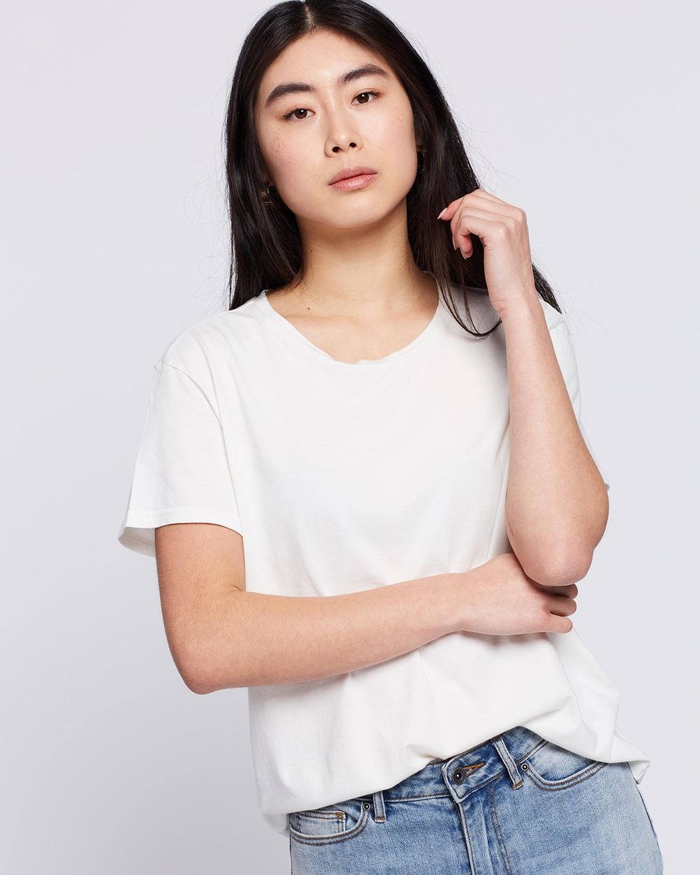 Nudie Jeans - Lisa Tee - T-Shirts & Singlets (Off-White) Lisa Tee