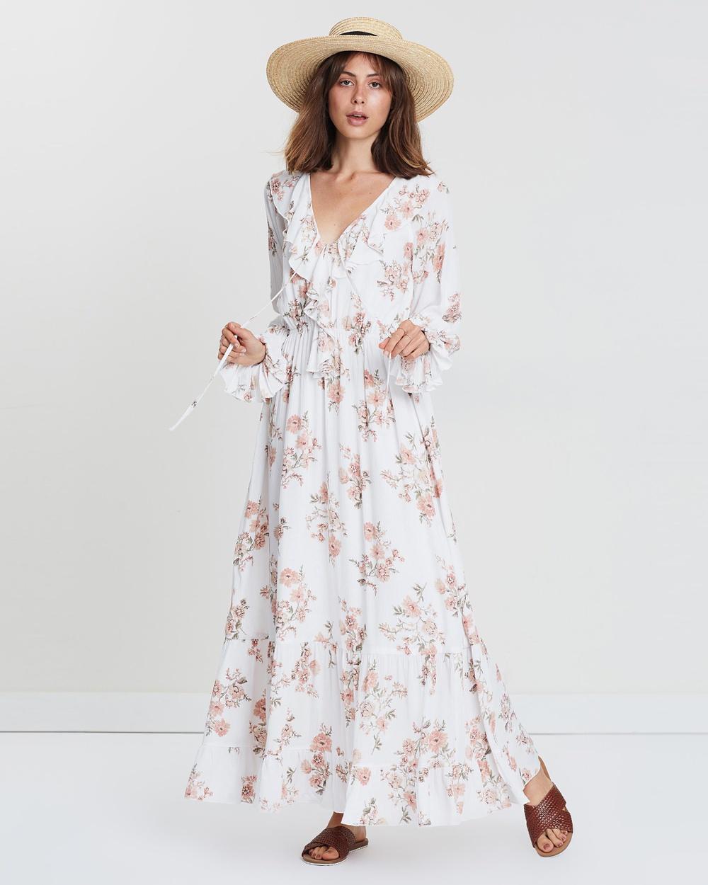 Wilde Willow White & Floral Enlighten Floral Maxi Dress