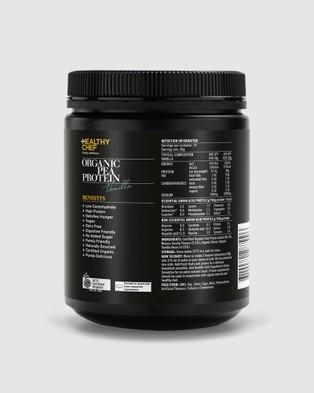 The Healthy Chef Organic Pea Protein Vanilla 550g - Proteins (Black)
