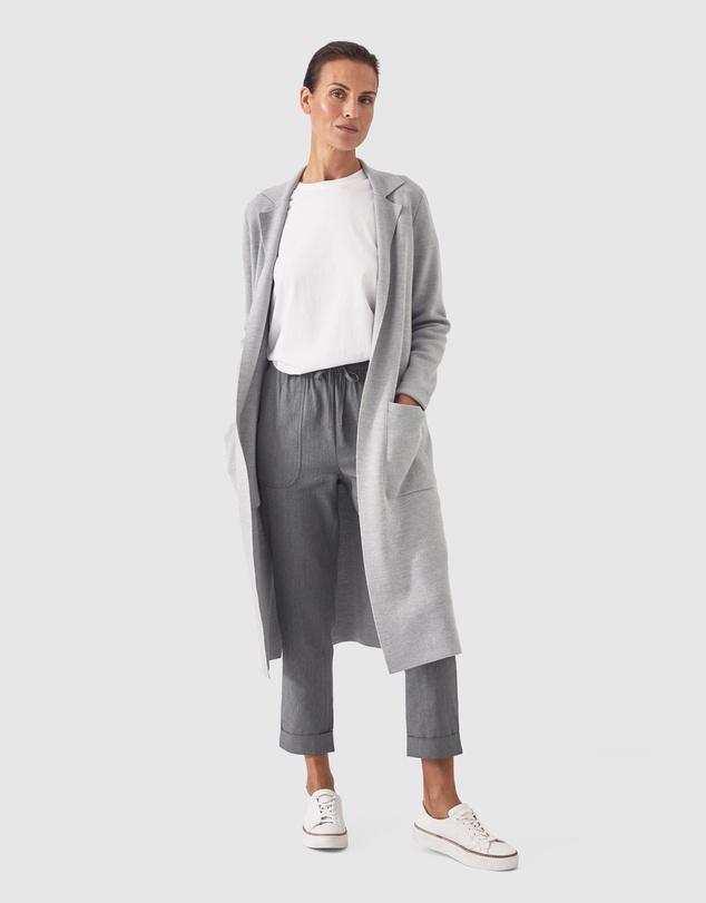Women Linen Cotton Pull On Jogger