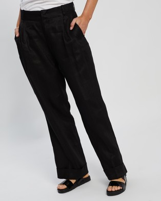 Assembly Label Tailored Linen Pants - Pants (Black)