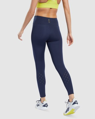 Reebok Performance United By Fitness Lux Perform Tights Sports Blue