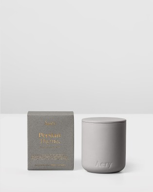Aery Living - Fernweh Matte Ceramic Candle with Lid Persian Thyme Candles (Grey)