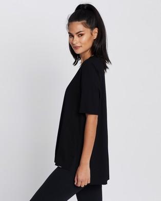 Le Buns Dawn Oversized Bed Tee - Sleepwear (Black)