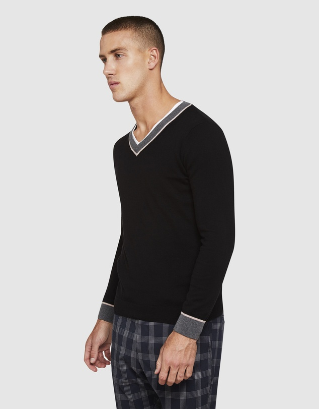 Oxford - Cedric Cotton/Cashmere V-Neck Knit