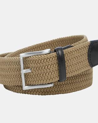 Buckle Crew 35mm Plaited Belt - Belts (Natural)